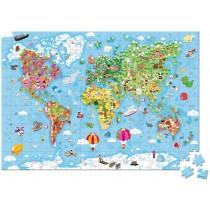 Janod XL-Puzzle WELTKARTE