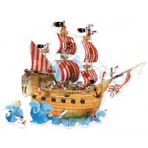 Janod XL-Puzzle PIRATENSCHIFF