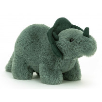 Jellycat Fossilly Dino TRICERATOPS S
