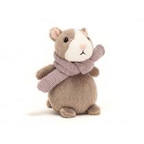 Jellycat Hamster HAPPY NUTMEG XS mauve