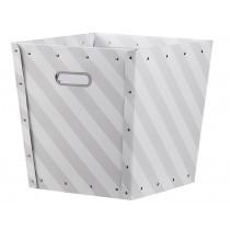 Kids Concept Aufbewahrungsbox gestreift grau weiß