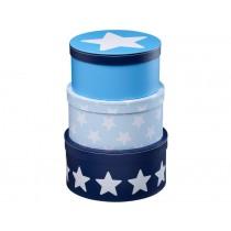 Kids Concept Pappboxen Sterne blau