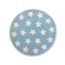 Kids Concept Teppich Sterne blau