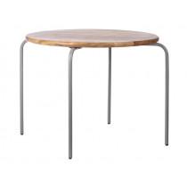 KidsDepot Runder Spieltisch GRAU