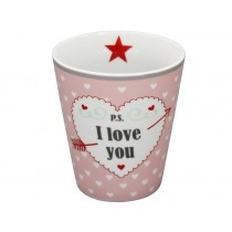 Krasilnikoff Becher Happy Mug P.S. I love you