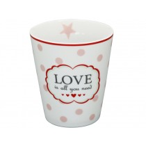 Krasilnikoff Becher Happy Mug Love is all you need weiß