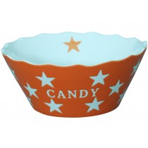 Krasilnikoff Happy Stars Schale Candy orange