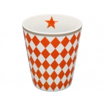 Krasilnikoff Becher Happy Mug Harlekin orange
