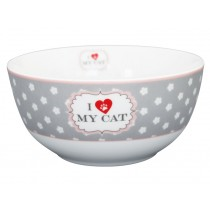 Krasilnikoff Happy Bowl I love my cat blumen
