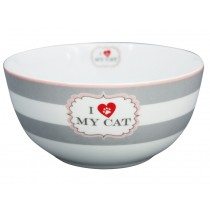 Krasilnikoff Happy Bowl I love my cat streifen