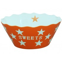 Krasilnikoff Happy Stars Schale Sweets orange