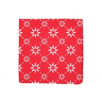 Krasilnikoff Serviette diagonal rot