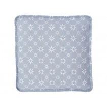 Krasilnikoff Sitzkissenbezug grau mit diagonalem Blumenmuster