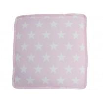 Krasilnikoff Sitzkissenbezug rosa mit weißen Sternen