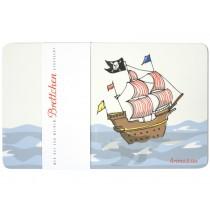 krima & isa Frühstücksbrettchen Piratenschiff
