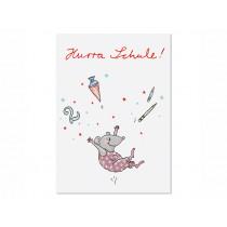 krima & isa Postkarte HURRA SCHULE