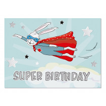 krima & isa Postkarte SUPER BIRTHDAY