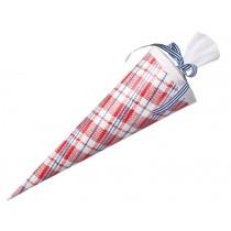 Mittelgroße Schultüte mit rotem Marktkaro von krima & isa