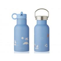 LIEWOOD Wasserflasche Anker SEASIDE Sky Blue