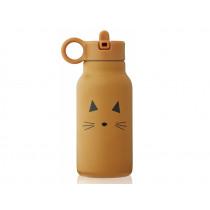 LIEWOOD Wasserflasche 250ml FALK Katze mustard