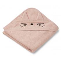 LIEWOOD Kapuzenhandtuch ALBERT Katze rosa
