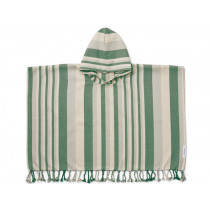LIEWOOD Poncho ROOMIE Garden Green/Sandy/Dove Blue (3-4)