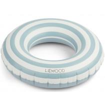 LIEWOOD Schwimmring BALOO Stripes Sea blue/Creme de la Creme