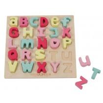 Little Dutch Alphabetpuzzle rosa