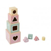 Little Dutch Holz-Stapelturm rosa
