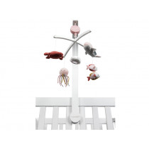 Little Dutch Musik Mobile OCEAN rosa mit Halterung weiß