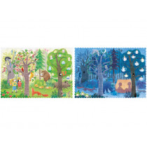 Londji Pocket Wendepuzzle DAY & NIGHT in the Forest (100 Teile)