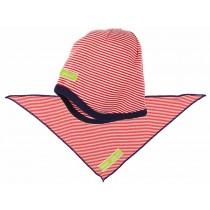 loud + proud Mütze und Tuch rot