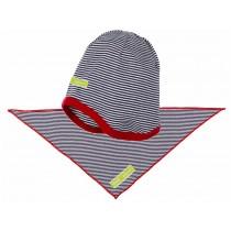 loud + proud Mütze und Tuch ultramarin