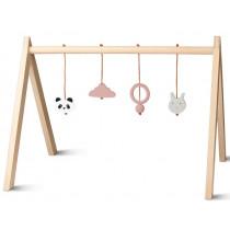 LIEWOOD Baby Gym SPIELTRAPEZ altrosa
