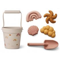LIEWOOD Dante Sand-Spielzeug RAINBOW LOVE altrosa