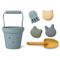 LIEWOOD Dante Sand-Spielzeug HASE blau mix