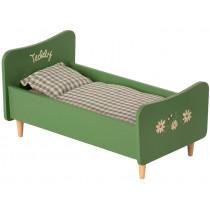Maileg Holzbett für TEDDY grün Dad