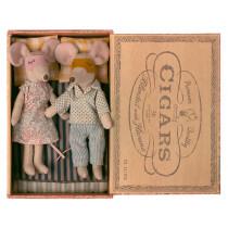 Maileg Maus MAMA & PAPA in Zigarrenbox