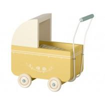 Maileg Puppen-Kinderwagen MICRO gelb