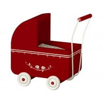 Maileg Puppen-Kinderwagen MICRO rot