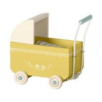 Maileg Puppen-Kinderwagen MY gelb