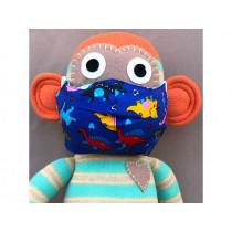 Hickups Gesichtsmaske KINDER Dinos blau