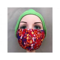 Hickups Gesichtsmaske FRAUEN Blumen rot