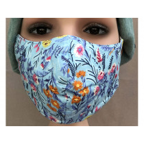 Hickups Gesichtsmaske FRAUEN Floral blau