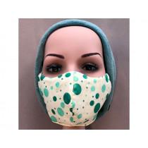 Hickups Gesichtsmaske JUGENDLICHE Punkte creme/grün
