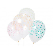 Meri Meri Luftballons STERNE bunt