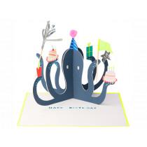 Meri Meri 3D-Grußkarte KRAKE Happy Birthday