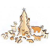 Meri Meri Adventskalender WALDTIERE aus Holz