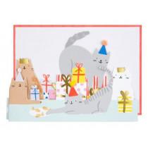 Meri Meri 3D-Grußkarte KATZE Happy Birthday