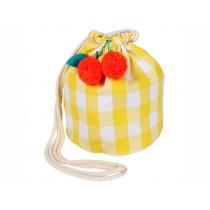 Meri Meri Kindertasche Vichy & Kirschen gelb